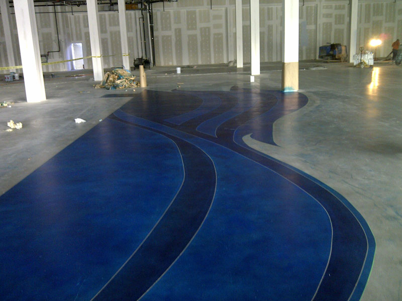 Dye Flooring Progress 2