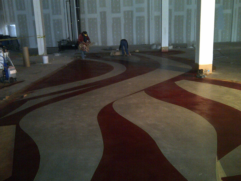 Dye Flooring Progress 3